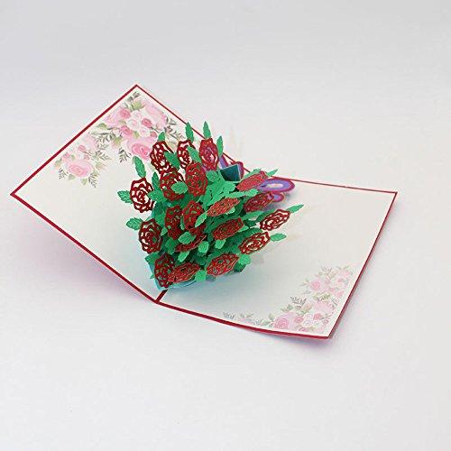 3D Pop Up Karten Valentine Lover Happy Birthday Jubiläum Grußkarten (Fußball-karte Ordner)