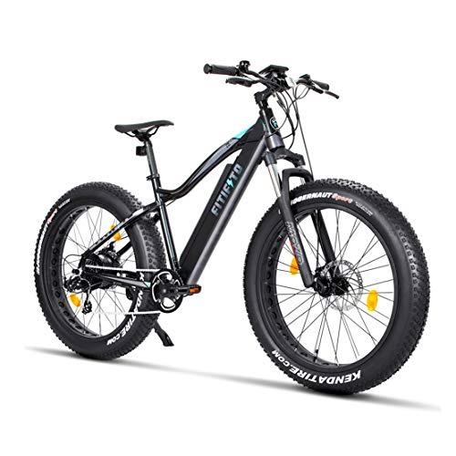 fatbike ebike Fitifito FT26 Elektrofahrrad Fatbike E-Bike Pedelec, 36V 250W Heckmotor, 36V 13Ah 468W Samsung Akku, Kenda 26 x 4,0 MTB Reifen