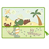 Pare-soleil de fenêtre de voiture pour bébé Stores de voiture Bande dessinée Motif Motif Dinosaure Trois couches de protection solaire à ventouse Voiture Fenêtre Parasol Protégez votre enfant Bébés bé