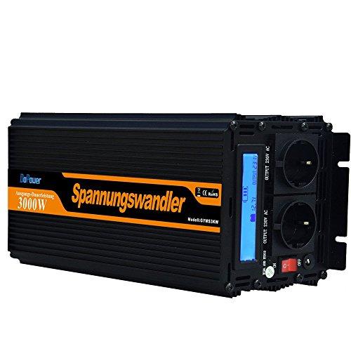wechselrichter ladegerät 3000 6000W spannungswandler 12V 230V modifizierte sinus inverter LCD