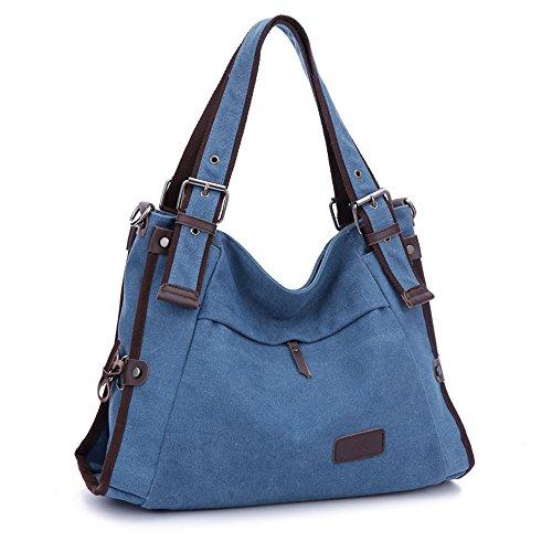 JOTHIN, Borsa a mano donna Multicolore 40*15*28 cm blu