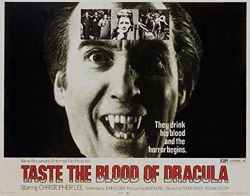 Preisvergleich Produktbild Taste The Blood Of Dracula, Christopher Lee & Gwen Watford, Geoffrey Keen, 1970 - Premium-Filmplakat Reprint 36x28 Inch Ungerahmt