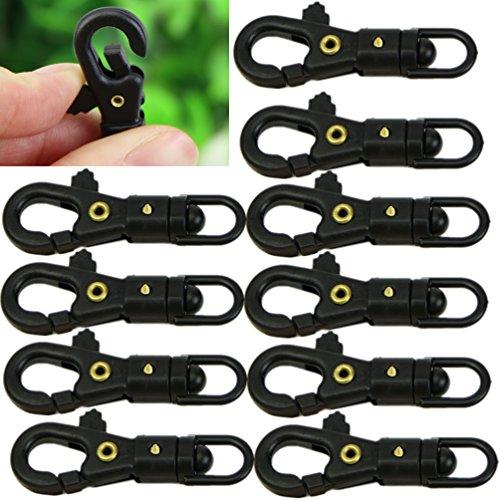 Preisvergleich Produktbild Heroneo ® 10 Stück Survival Mini (mit Schnalle, drehbar, zum Quickdraw Schlüsselanhänger EDC Werkzeug