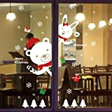 Natale Vetrofanie Decorazione Della Decalcomania Della Home Christmase Decor Wallpaper (C)
