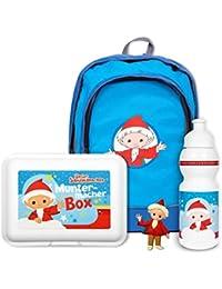 Preisvergleich für Unser Sandmännchen Kindergarten Set - Rucksack, Brotdose, Trinkflasche, 3D Magnet