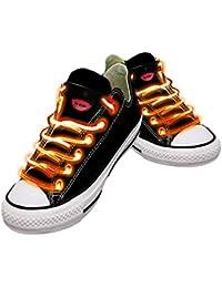 Cordones impermeables para zapatos con LED en diferentes colores: verde, rojo, amarillo,