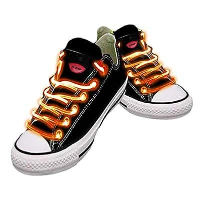 Platube LED Fiber Optic Shoelaces - Orange