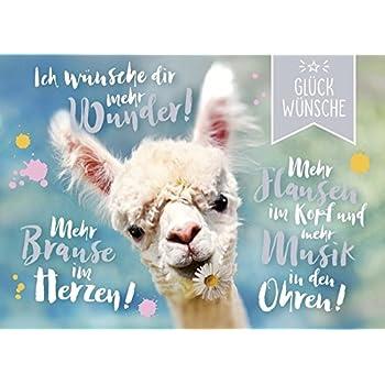 DeCoArt... 1 A5 Große Grüße Geburtstagskarte Alpaka Ich