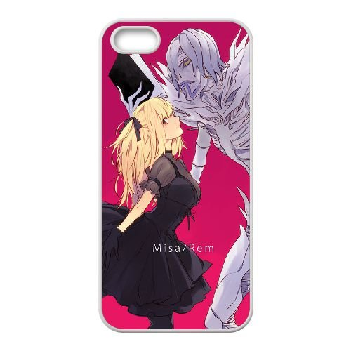 Death Note coque iPhone 5 5S Housse Blanc téléphone portable couverture de cas coque EBDXJKNBO11786