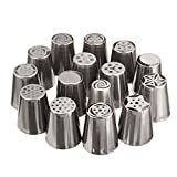 KING DO WAY 15tlg Blumennagel Garniertuelle Bluetentuelle Dekoduesen Spritz Icing Piping Nozzle