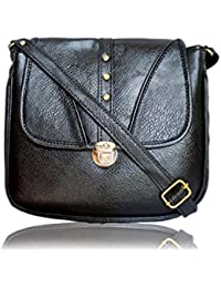Classy And Fashionable Black Color Daily Use Sling Bag For Modern Girls