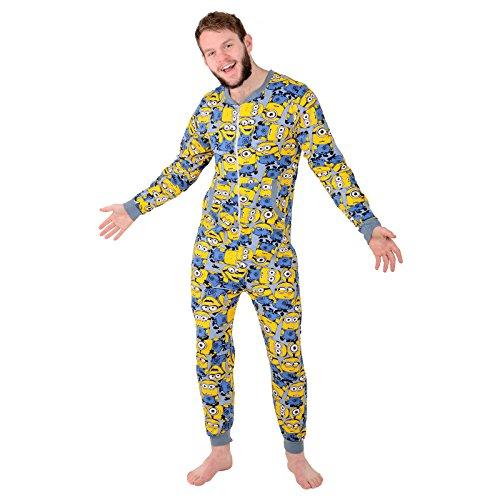 Herren Ich-einfach Unverbesserlich Minion Schlafanzug Alles-in-einem Nachtwäsche