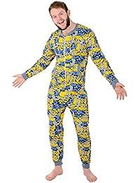 Mens Character Onesie Sleepsuit Pyjamas All In One Minions / Disney 100% Grumpy
