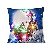 Weihnachten stilvoll witzige LED Kissen, Y56Weihnachten Beleuchtung Led Kissenbezug Home Decor Werfen Kissenbezüge Sofa Blinklicht