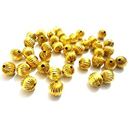 AM Acrylic metal finish gold beads for jewellery making