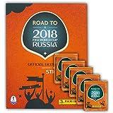 Panini - FIFA Worldcup 2018 Road to Russia Sammelalbum + 5 Booster Packungen Sammelsticker 25 Sticker