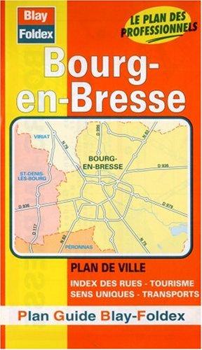 Plan de ville : Bourg-en-Bresse (avec un index)