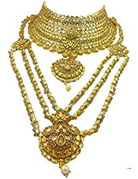 BB Fashion Gold Gold Plated Bridal Jewellery Set For Women