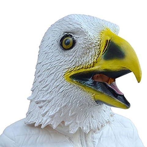 Sannysis Adler-Maske aus Latex Tier-Kostüm-Stütze Halloween