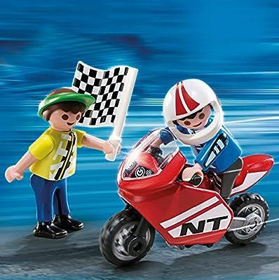 Playmobil - Niños con moto de carreras (4780) por Playmobil