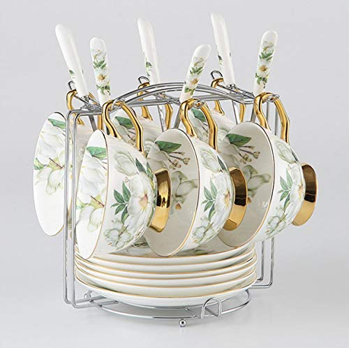 Tea Set Camellia Bone China Coffee British Porcelain Ceramic Pot Creamer Sugar Bowl Teatime Coffee Cup Mug A China Creamer