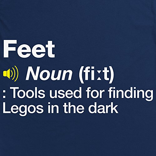 Definition of Feet T-shirt, Uomo Blu navy