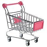 VORCOOL Mini Einkaufswagen Geformt Lagerung Korb Spielzeug (Rosarot)