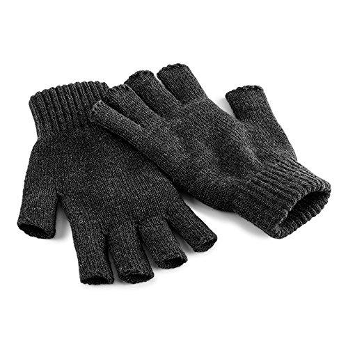 Beechfield Unisex Winter-Handschuhe, fingerlos Small / Medium,Anthrazit (Grau Herren Handschuh)