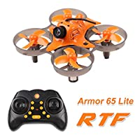 Makerfire Armor 65 Lite RTF Micro FPV Racing Drone with Bayang Protocol 65mm 800TVL Camera Whoop Quadcopter 7x16mm Motors Tiny-Lite FC Sliverwave Firmware(65 Lite)
