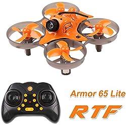 MakerStack Armor 65 Lite RTF Micro FPV Racing Drone con Bayang Protocol 65mm 800TVL Cámara Whoop Quadcopter 7x16mm Motores Tiny-Lite FC Sliverwave Firmware