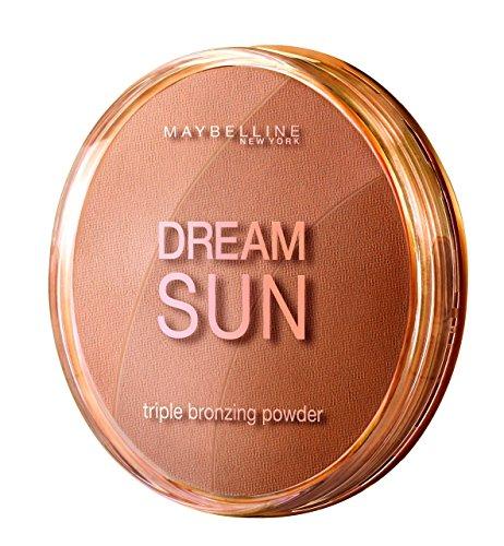 Maybelline New York Dream Sun Bronzer Blonde 01/Bräunungspuder in drei aufeinander abgestimmten Bronzetönen, für eine natürlich wirkende Bräune im Gesicht, 1 x 16 g -