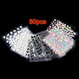 50 Sheets MIX Finger Toe Nail Art Decoration Flower Sticker Decal DIY by Epower Mall