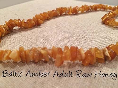 Baltic Amber Lemon Necklace Raw (Baltic Amber Necklace 17 Inch for Adults Big Kids Child Raw Sea Polished Honey Lemon Brown Yellow UnKnotted individual Boy Girl Unisex Man Woman Certified Authentic. Anti-inflammatory, Reduction in Inflamation Symptoms Such As Carpal Tunnel, Back Aches, Head Aches, Tooth Aches, Sciatica, Fever, General Aches and Pains. Highest Quality (Raw Honey) by Baltic Essentials)