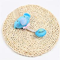 AILILOVEBEAUTY Muela Sound Juguete para Mascotas Fur 24x20cm,Azul