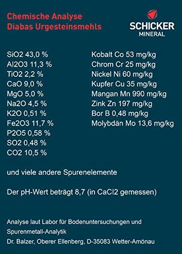 Schicker Mineral Diabas Urgesteinsmehl 25 kg feinstes Gesteinsmehl/reines Naturprodukt ohne weitere Zusätze/Bodenhilfsstoff