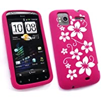 Emartbuy Htc Sensation Silicon Case / Cover / Skin Pink Floral