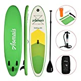 SUNCOO 10ft/3m Inflatable Stand Up Paddle Board ((6in/15cm Thick) Non-Slip Deck Adjustable Paddle