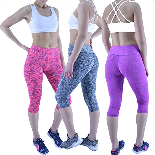 AA Sportswear - Leggings sportivi -  donna Pink/Black