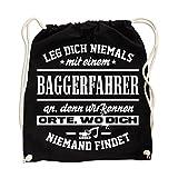 Rucksack Leg dich niemals mit einem BAGGERFAHRER an