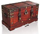 Brynnberg - Caja de Madera Cofre del Tesoro con candado Pirata de Estilo Vintage,...