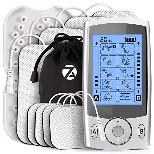 Estimulador De Pulsos TENS Masajeador ElectroestimulacióN Con Electrodos Para El Alivio Del Dolor Tratamiento Del Dolor Espalda, Cuello, Hombros, EstréS En Piernas Y Dolor CiáTico