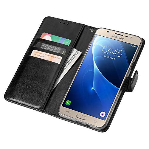 new arrival 79869 31594 1SourceTek Samsung Galaxy J7 Case Made of Crazy-Horse Pattern Luxury PU  Leather, Wallet