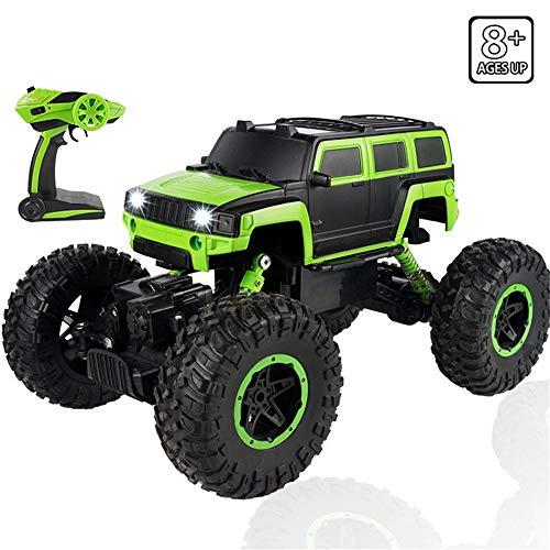 WANGOFUN Racing Toy Car, Hochgeschwindigkeits-Rock-Geländewagen 2,4 GHz, Funkfernsteuerungs-Buggy mit starker Kraftaufhängungsfeder, ziemlich cool für Kinder-Geschenk für Erwachsene,Blue