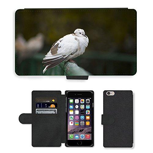 Just Mobile pour Hot Style Téléphone portable étui portefeuille en cuir PU avec fente pour carte//m00139134Pigeon Bird Fly Colombe Nature Animal//Apple iPhone 6Plus 14cm