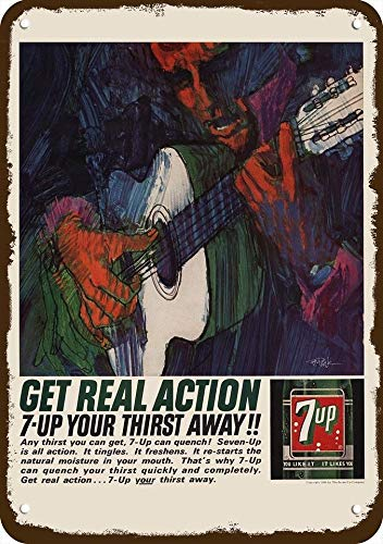 Laptopo 1964 7UP 7 UP SODA Vintage Look Replica Metal Sign - BOB Peak Guitar Art (Soda 7up)