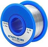 TiGree Solder 60/40 Rosin Core Flux Solder Wire Tin Lead Reel for Soldering, 0.039'' 50g