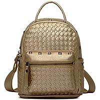 Tiny Chou - Grazioso zainetto da viaggio, in pelle sintetica di PU intrecciata, con mini (Flap Satchel Handbag)
