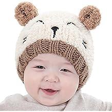 0289f8138dc40 BBsmile bebé Sombrero bebé Kids Boy Girl Lovely Suave Sombrero Gorro de Lana  Sombrero Hemming