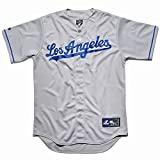 MLB Baseball Trikot/Jersey LOS ANGELES L.A. DODGERS grau in SMALL (S)