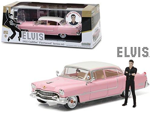 Elvis Presley Vehículo 1955 Cadillac Fleetwood Series 60 Pink Cadillac con Figura (Escala 1/43) Greenlight Collectibles